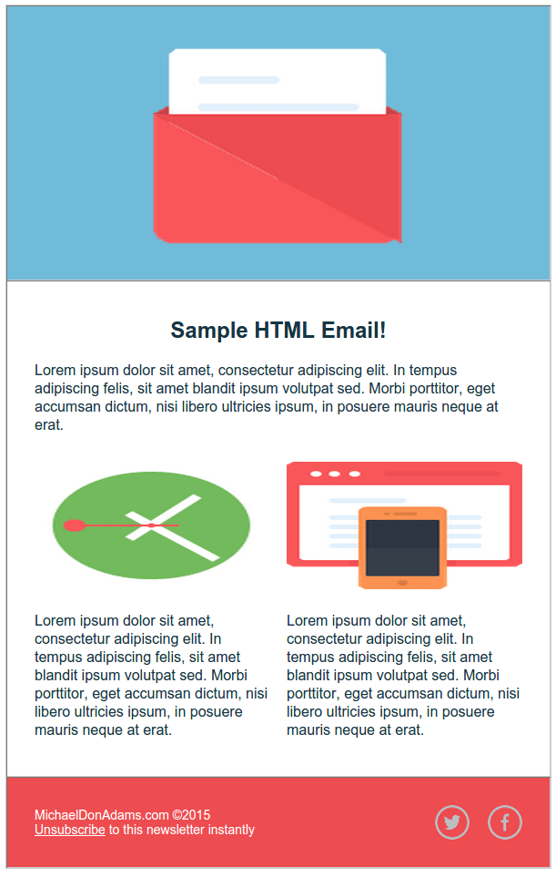 Html Email Sample